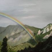 rainmbow oil painting
